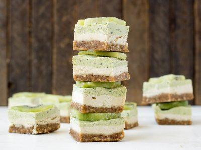 Glutenvrije gember kiwi cheesecake