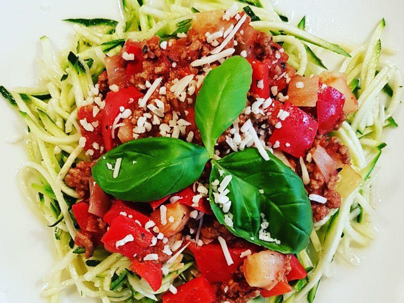 Courgette spaghetti