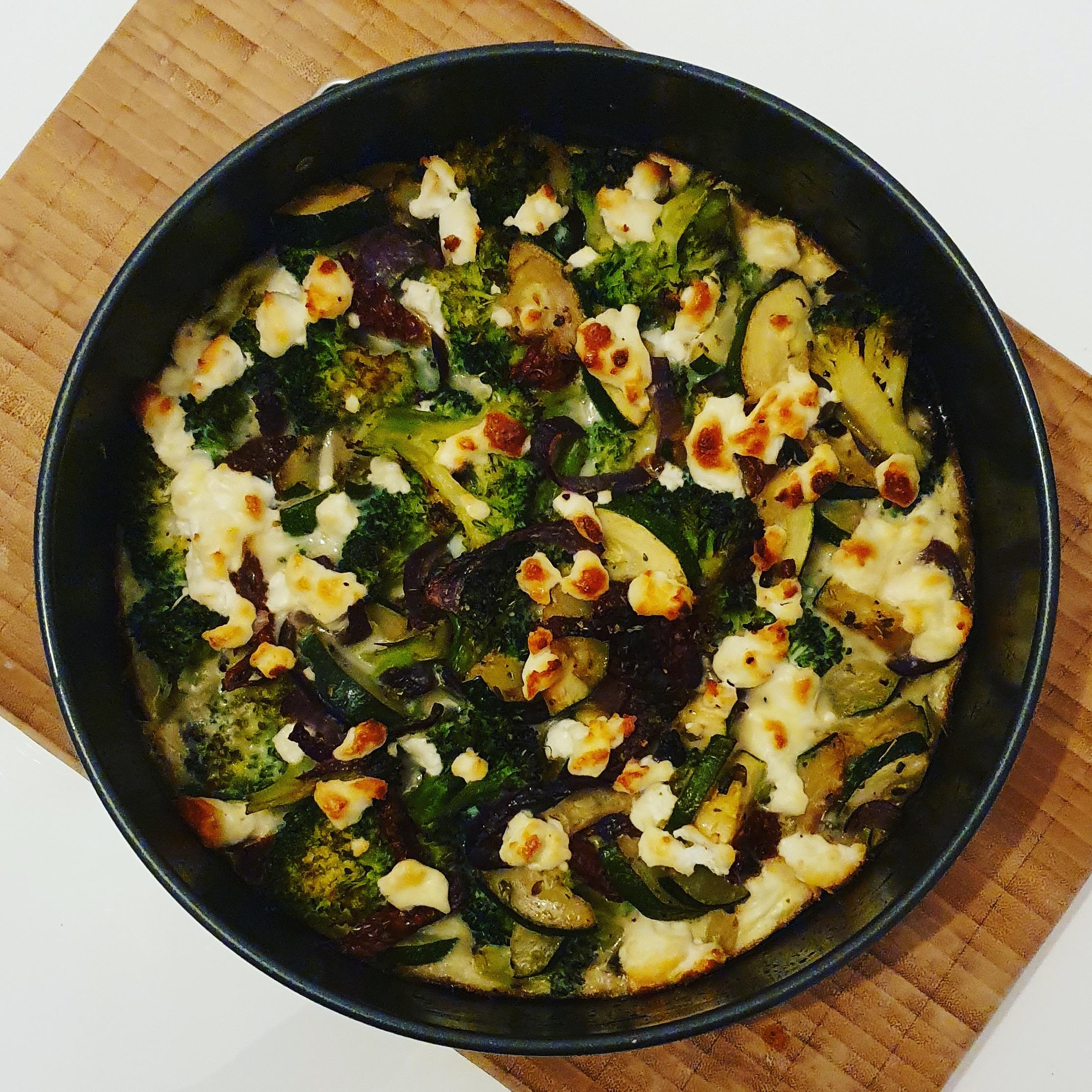 Recept quiche van broccoli, courgette en geitenkaas